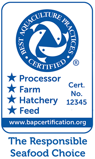 BAP Certification - The responsible seafood choice.